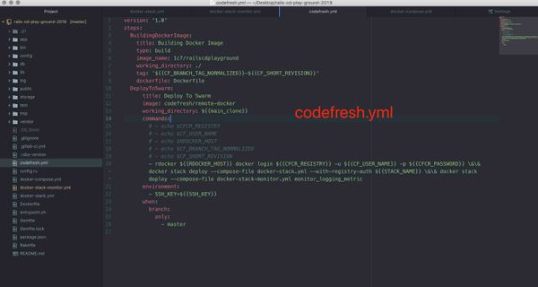 CodeFresh + Docker Swarm 工作流